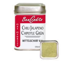 Grüne Jalapeno Chili gemahlen