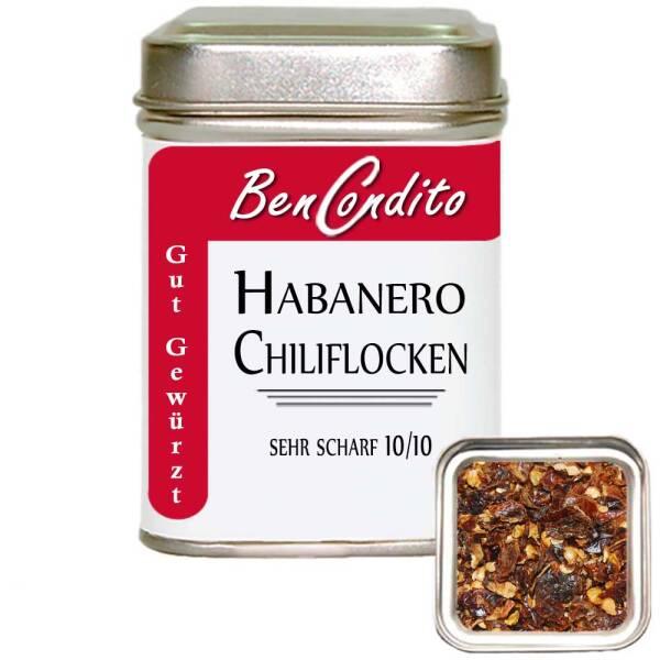 Habanero Chili geschrotet
