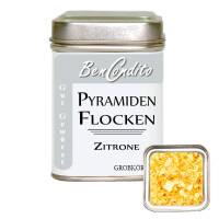 Pyramidenflocken mit Zitrone und Kurkuma
