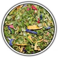Salatkräuter mit Blüten