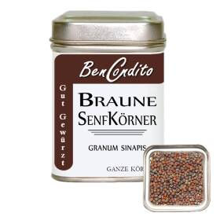 Braune Senfkörner
