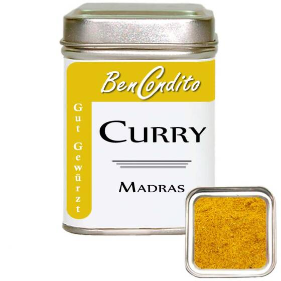 Curry ( Currypulver ) Madras 80 Gr. Dose