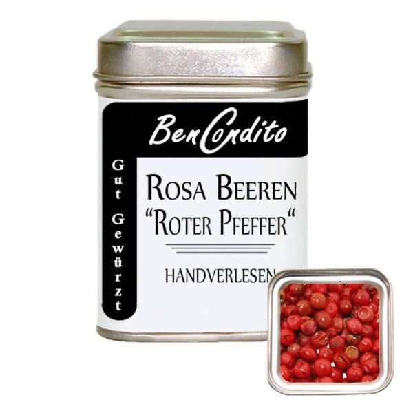 """Rosa Beeren """"roter Pfeffer"""" handverlesen 40 Gr. Dose"""